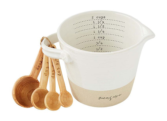 Mud Pie: Stoneware Measuring Cup and Spoon Set