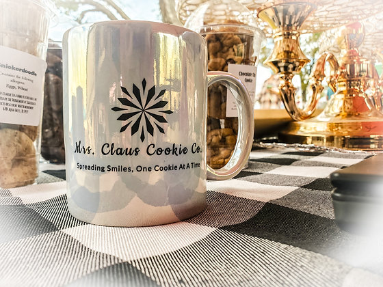 Mrs. Claus Cookie Co signature mug