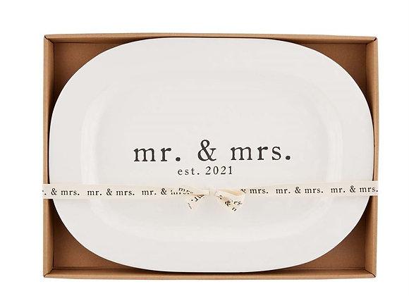 Mud Pie: Mr & Mrs 2021 Platter
