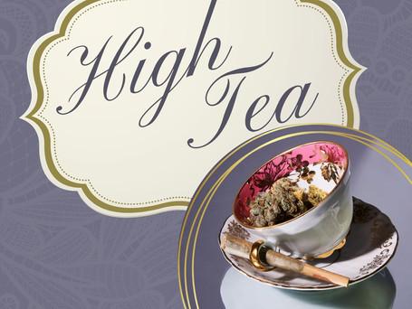 Gold Photo Background Bridal Tea Invitat