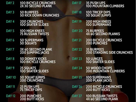 100 Crunches for A Flat Stomach !