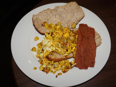 Vegan Scrambled Eggs and Bacon