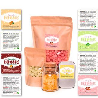 Etikettendesign/Logodesign für Wenning´s Birkenzucker Bonbons