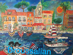 Cannes Harbor 24x30 for Margie
