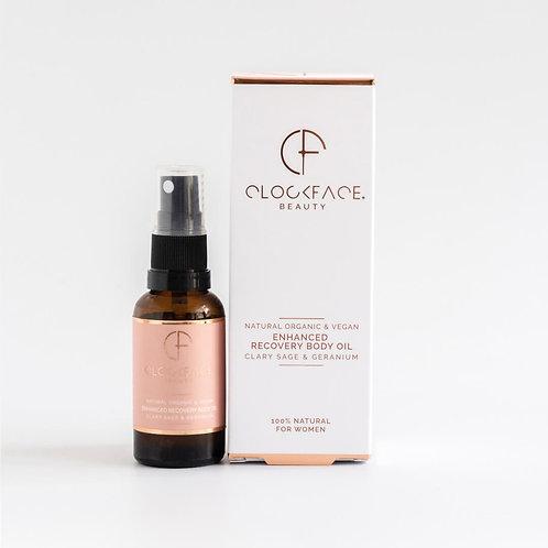 Clockface Beauty Enhanced Recovery Body Oil - For Women