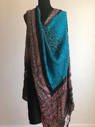 Tie Dye Silk Bandhani Wraps