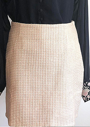 Texture Embroidered Skirt
