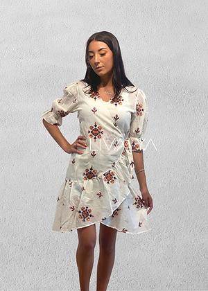Aztec Ruffle Dress