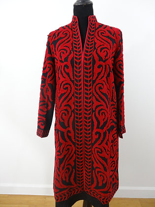 Fine Wool Jacket with Textured Embroidery