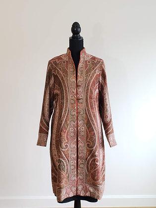 Fine Wool Kani Weave Jacket with Jamawar Design
