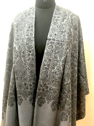 All-Over Hand Embroidered Cashmere Stole