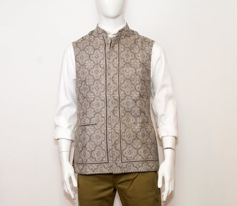 Fine Wool Embroidered Vest