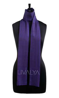Fine Wool Scarf with Diamond Weave