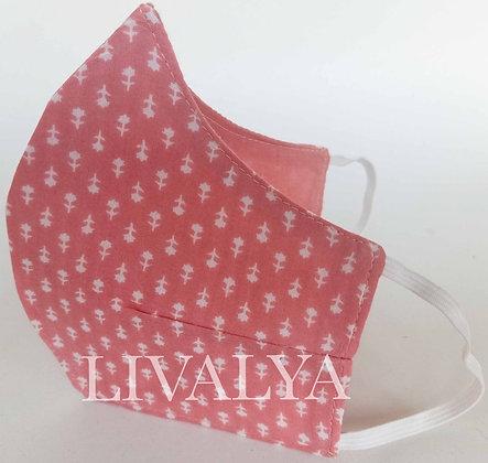 Fine Cotton 3-Layered Mask - Patterned
