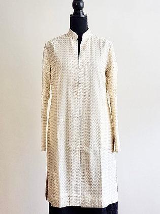 Chikan Embroidery Jacket - Metallic Sequins
