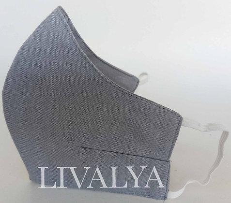 Fine Cotton 3-Layered Mask - Plain
