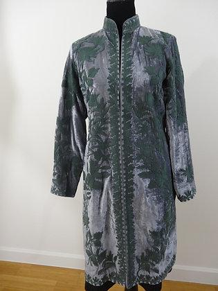 Embroidered Fine Silk Velvet Jacket