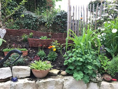 Hanggarten ist bepflanzt