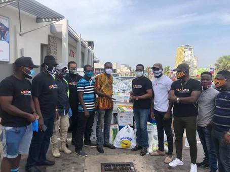 #COVID-19 . Ghana Film Crew Members Smiles Despite Lock Down.