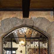 Arch enterance to the dining room