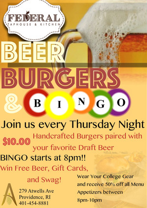 Beers, Burgers, and BINGO!