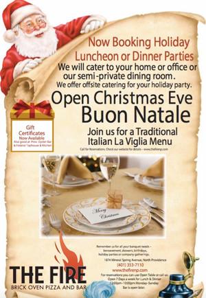 Italian La Vigil Menu, December 24th