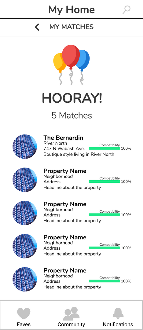 Apartment Matches