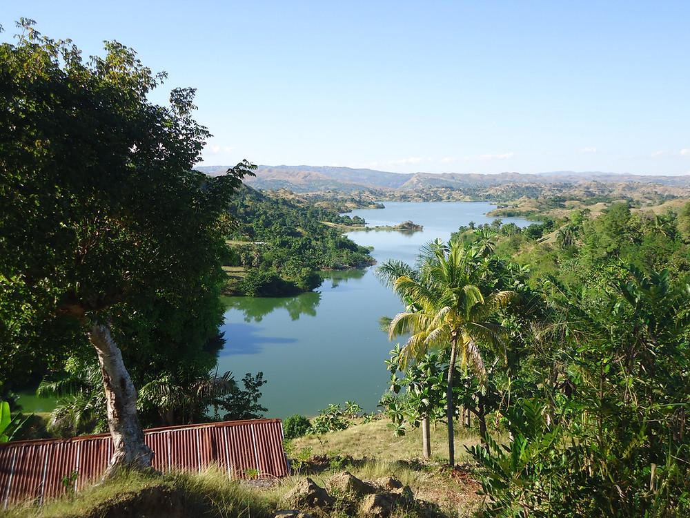 Le lac Peligre, à Lascahobas, Haïti.