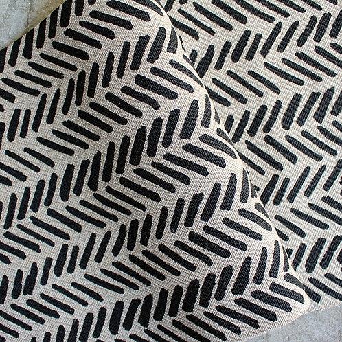 Coupon lin de Normandie flax • Chevron noir