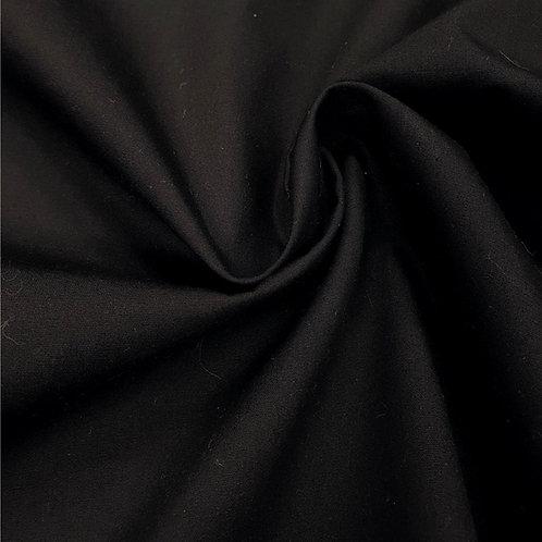 Popeline de coton biologique - Noir - Par 25 cm (38€ le mètre)