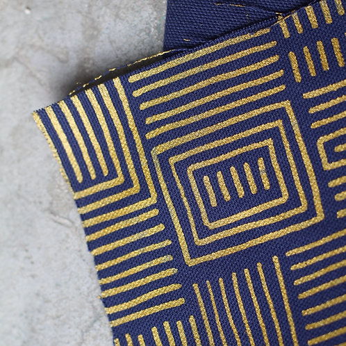 Coupon coton bio marine • Bogolan doré