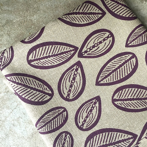 Coupon lin de Normandie flax • Cabosse aubergine