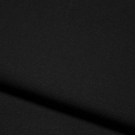 Demi-natté de coton biologique - Noir - Par 25 cm (55€ le mètre)