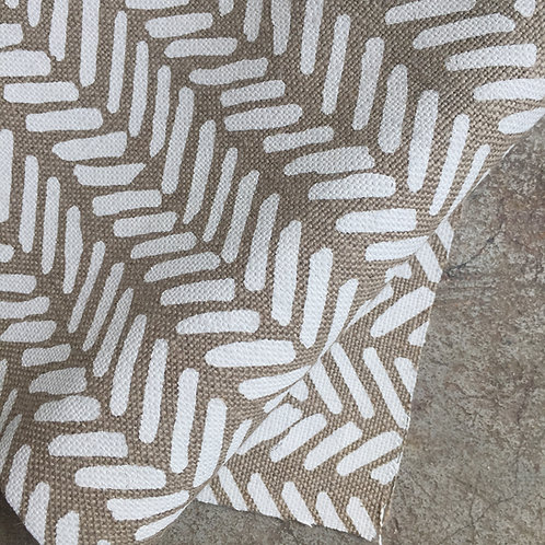 Coupon lin de Normandie flax • Chevron blanc