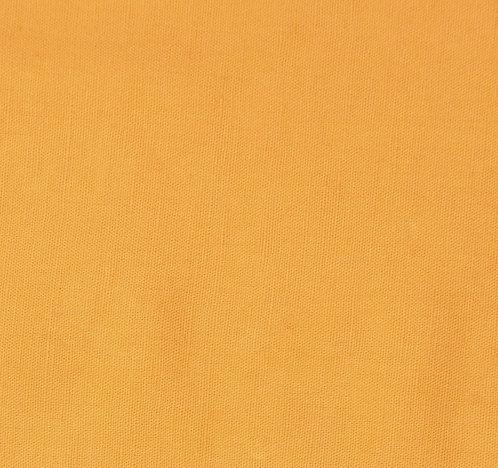 Coupon de toile de coton safran - Imprimé au choix