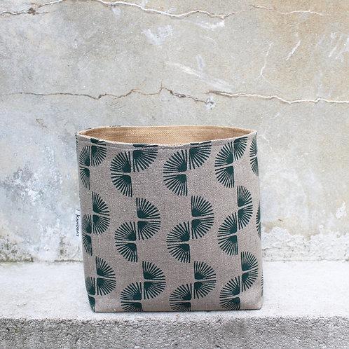 Vide-poche XL Macaya • paon kaki