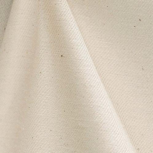 Demi-natté de coton biologique - Ecru - Par 25 cm (55€ le mètre)