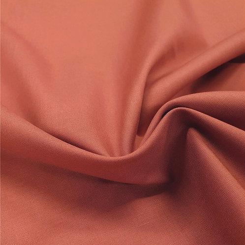 Popeline de coton biologique - Terracotta - Par 25 cm (38€ le mètre)