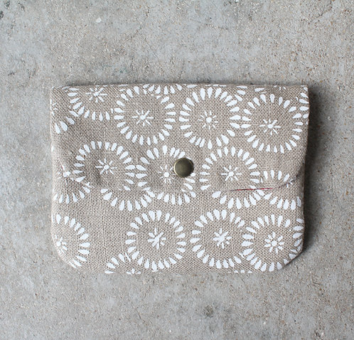 Porte-monnaie Trouchouchou • soleil blanc & wax