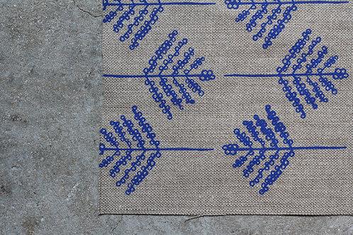 Coupon lin bio de Normandie • Mimosa bleu vif