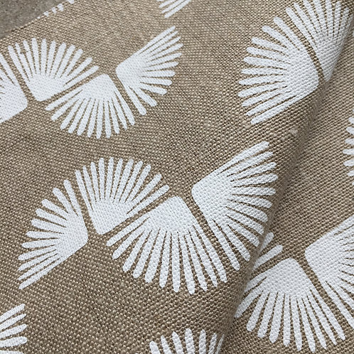 Coupon lin de Normandie flax • Paon blanc