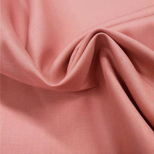 Popeline de coton biologique - Vieux rose - Par 25 cm (38€ le mètre)