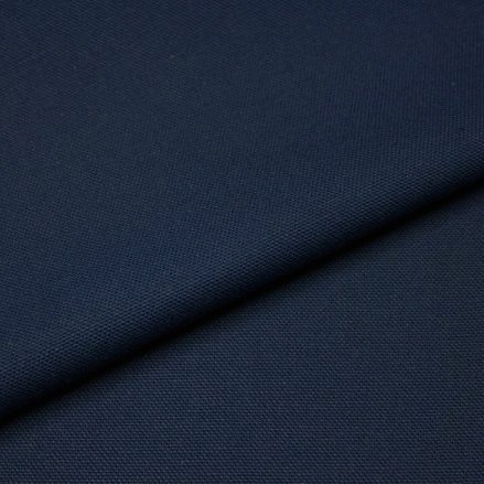 Demi-natté de coton biologique - Bleu marine - Par 25 cm (55€ le mètre)