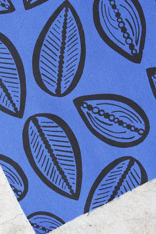 Coupon demi-natté de coton bleu amparo • Cabosse noir