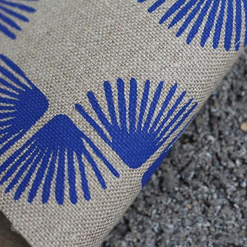 Coupon lin bio de Normandie • Paon bleu vif