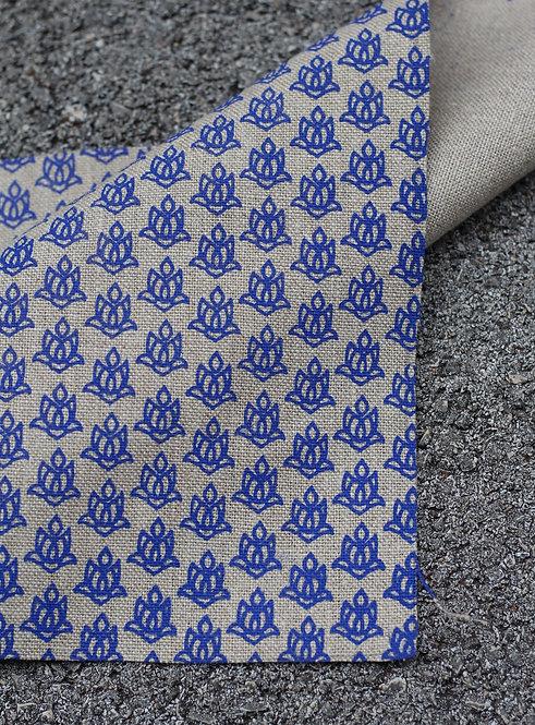 Coupon lin bio de Normandie • Lotus bleu vif