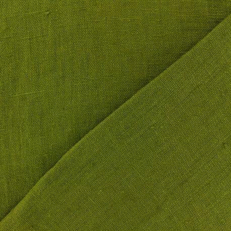Lin  de Normandie - Vert mousse - Par 25 cm (55€ le mètre)