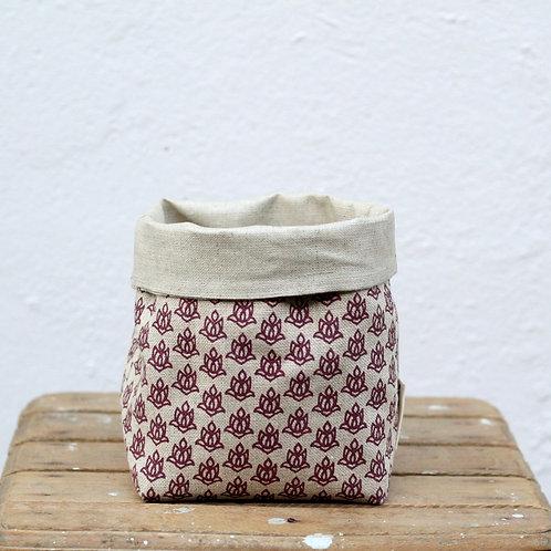 Vide-poche Kabic • lotus prune sur lin bio