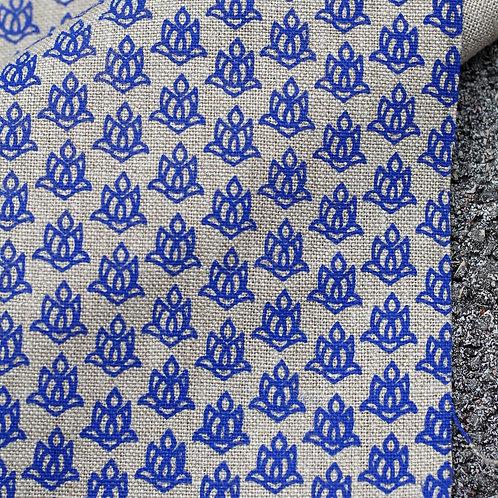Coupon lin de Normandie flax • Lotus bleu électrique