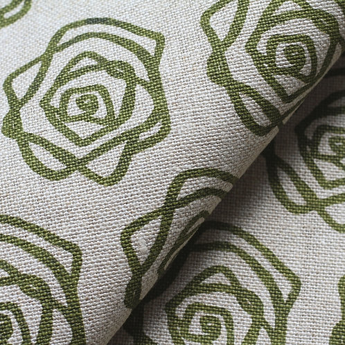 Coupon lin de Normandie flax • Rose olive